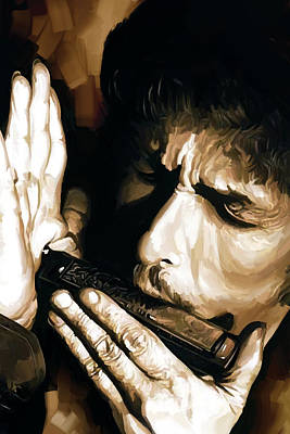 Bob Dylan Artwork 2 Print by Sheraz A