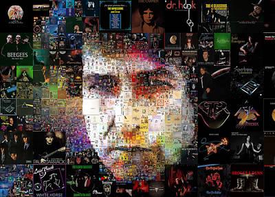 Mosaico Digital Art - Bob Dylan Mosaic by Luis Blanco
