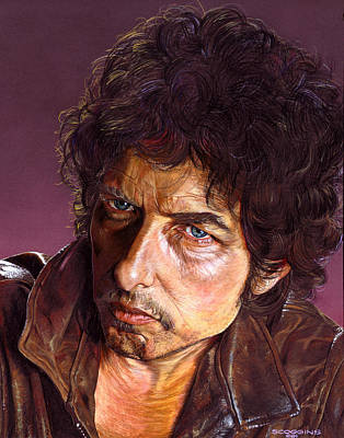 Bob Dylan Painting - Bob Dylan by Tim  Scoggins
