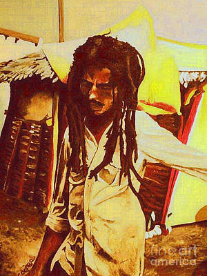 Lion Of Judah Painting - Bob In Trenchtown by Kevin J Cooper Artwork