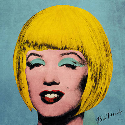 Bob Marilyn  Print by Filippo B