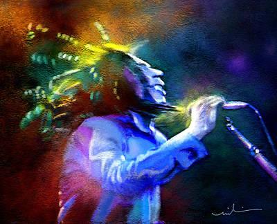 Singer Mixed Media - Bob Marley 01 by Miki De Goodaboom