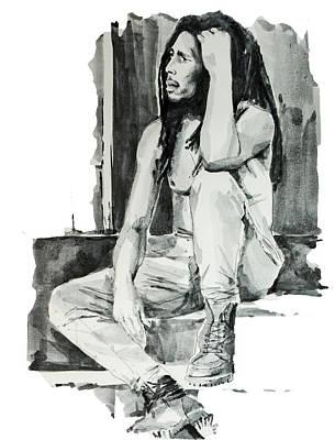 Bob Marley Drawing - Bob Marley 10 by Bekim Art