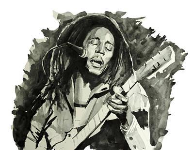 Bob Marley Drawing - Bob Marley 2 by Bekim Art