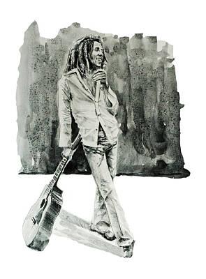 Bob Marley Drawing - Bob Marley 3 by Bekim Art