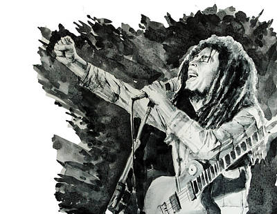 Bob Marley Drawing - Bob Marley 4 by Bekim Art