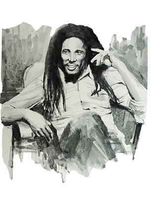 Bob Marley Drawing - Bob Marley 5 by Bekim Art