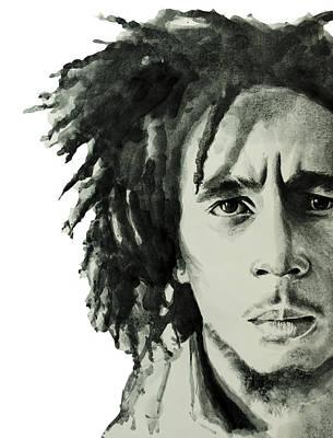 Bob Marley Drawing - Bob Marley 6 by Bekim Art