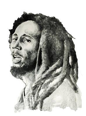 Bob Marley Drawing - Bob Marley 7 by Bekim Art