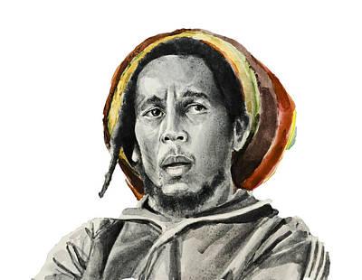 Bob Marley Drawing - Bob Marley 9 by Bekim Art