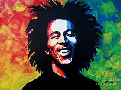 Soul Singer Drawing - Bob Marley by A Karron