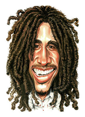 Singer Songwriter Painting - Bob Marley by Art