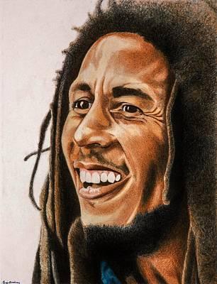 Bob Marley Drawing - Bob Marley by Brian Broadway