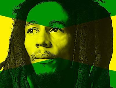 Jamaican Digital Art - Bob Marley by Dan Sproul