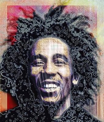 Jamaican Digital Art - Bob Marley by Daniel Hagerman