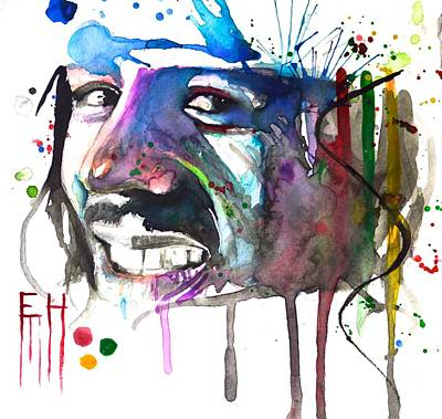 Bob Marley Abstract Painting - Bob Marley by Ejaz  Hassanali