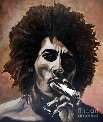 Ganja Mixed Media - Bob Marley by Kusum Vij