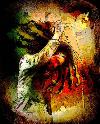 Music Painting - Bob Marley Madness 07 by Miki De Goodaboom
