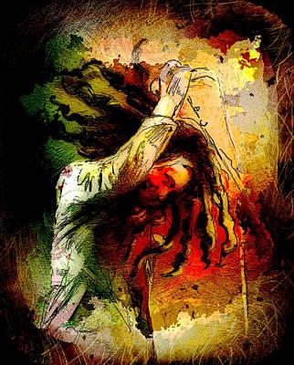 Bob Marley Madness 07 Print by Miki De Goodaboom