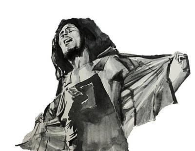 Bob Marley Drawing - Bob Marley by Bekim Art