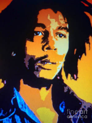 Bob Marley Abstract Painting - Bob Marley by Ryszard Sleczka