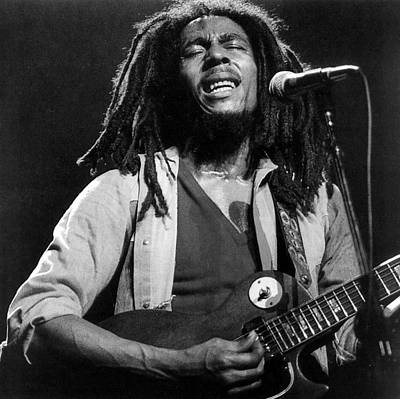 Bob Marley Singing Into The Microphone Print by Retro Images Archive