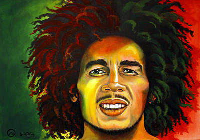 Bob Marley Abstract Painting - Bob Marley by Sue Riley