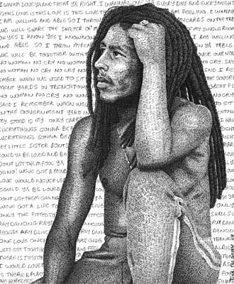 Bob Marley Print by Timothy Glasby