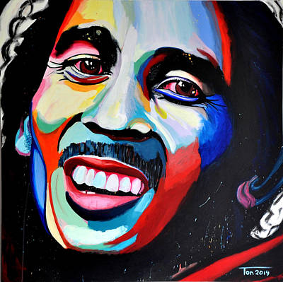 Bob Marley Abstract Painting - Bob Marley by Ton Peelen