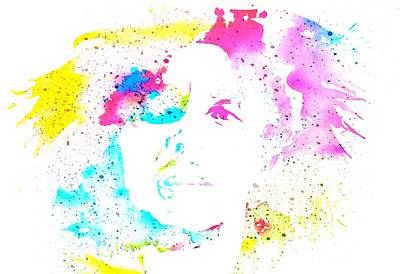Icon Mixed Media - Bob Marley Watercolor by Dan Sproul