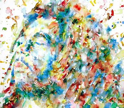 Rasta Painting - Bob Marley - Watercolor Portrait by Fabrizio Cassetta