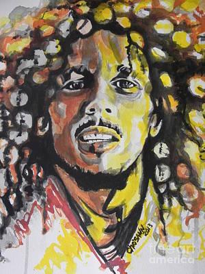 Bob Marley 01 Print by Chrisann Ellis