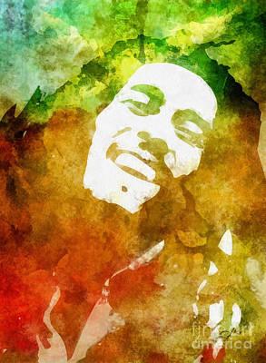 Rasta Painting - Bob by Mo T