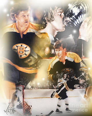 Bobby Orr Print by Mike Oulton