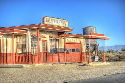 Ghost Towns Photograph - Bob's Service Garage by Juli Scalzi