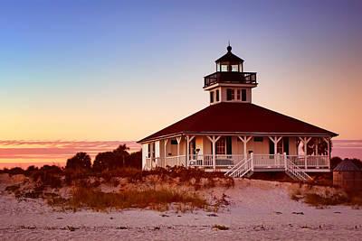 Frame House Photograph - Boca Grande Lighthouse - Florida by Nikolyn McDonald