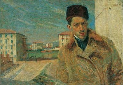 Self Portrait Photograph - Boccioni Umberto, Self-portrait, 1908 by Everett