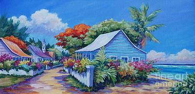 Bougainvillea Painting - Bodden Town Panorama by John Clark