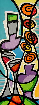 Colorfull Painting - Bodegon Copas by Mary Tere Perez