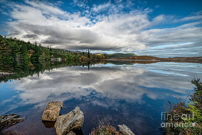 Autumn Landscape Photograph - Bodgynydd Lake by Adrian Evans