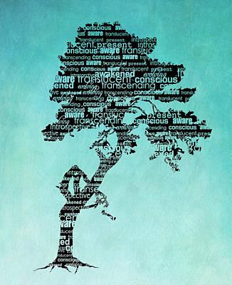 Bonsai Digital Art - Bodhi Tree Of Awareness by Tammy Wetzel