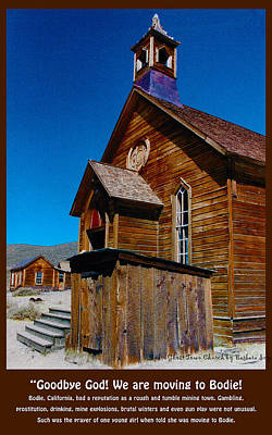 At Poster Digital Art - Bodie Ghost Town Church by Barbara Snyder