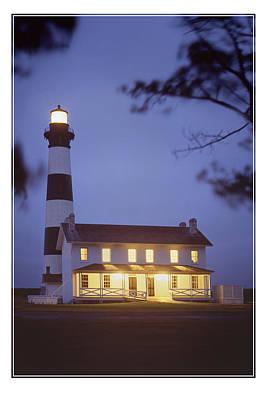 Lighthouse Digital Art - Bodie Light Just After Dark by Mike McGlothlen
