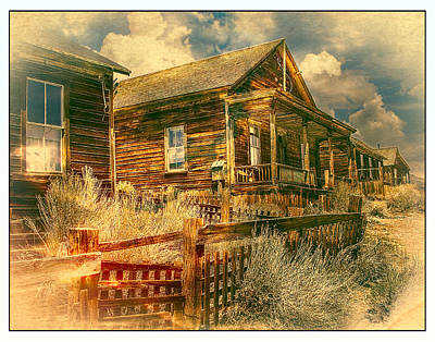 Oldzero Photograph - Bodie Row Houses by Steve Benefiel