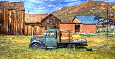 Old Trucks Photograph - Bodie Truck by Mike Ronnebeck