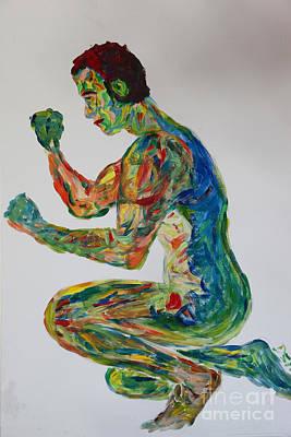 Homoerotic Painting - Body Shaping - 2518 by Lars  Deike
