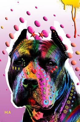 Dog Abstract Art Digital Art - Bodyguard by Mark Ashkenazi