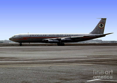 Fixed Wing Multi Engine Photograph - Boeing 707 American Airlines Freight Aal by Wernher Krutein