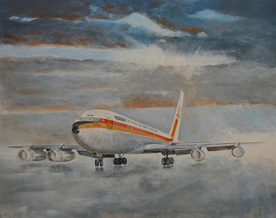 Airliners Painting - Boeing 707 by Art Cox