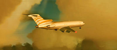 Airliners Mixed Media - Boeing 727 - Cargo by Marcello Cicchini